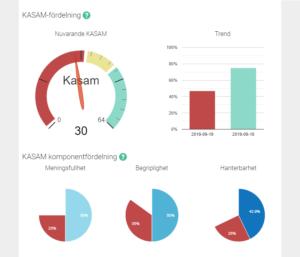 Vy över personens KASAM-resultat för analys
