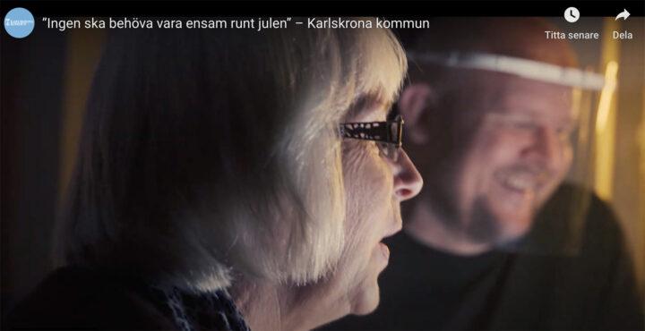 Karlskrona kommuns äldreförvaltnings fantastiska julhälsning