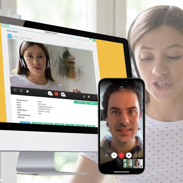 Hur fungerar säkra videosamtal för handläggaren på socialtjänsten