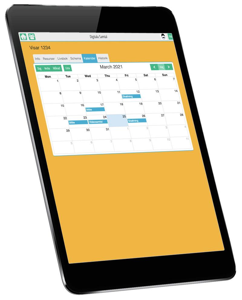 Uppdaterat planeringsverktyg i den nya versionen av Digitala Samtal